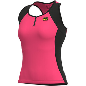 Alé Cycling Solid Color Block Tanktop Dames, fluo pink